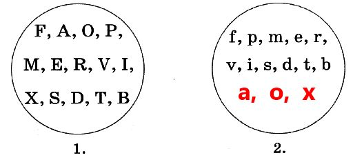 2. Не все заглавные буквы имеют здесь парную строчную. Впиши в кружок №2 недостающие строчные буквы