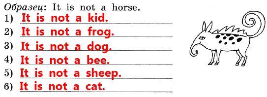 Б. Напиши шесть фраз о том, каким животным это существо не является
