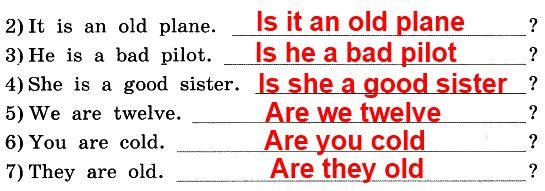 1. Преврати эти утверждения в вопросы и напиши их.