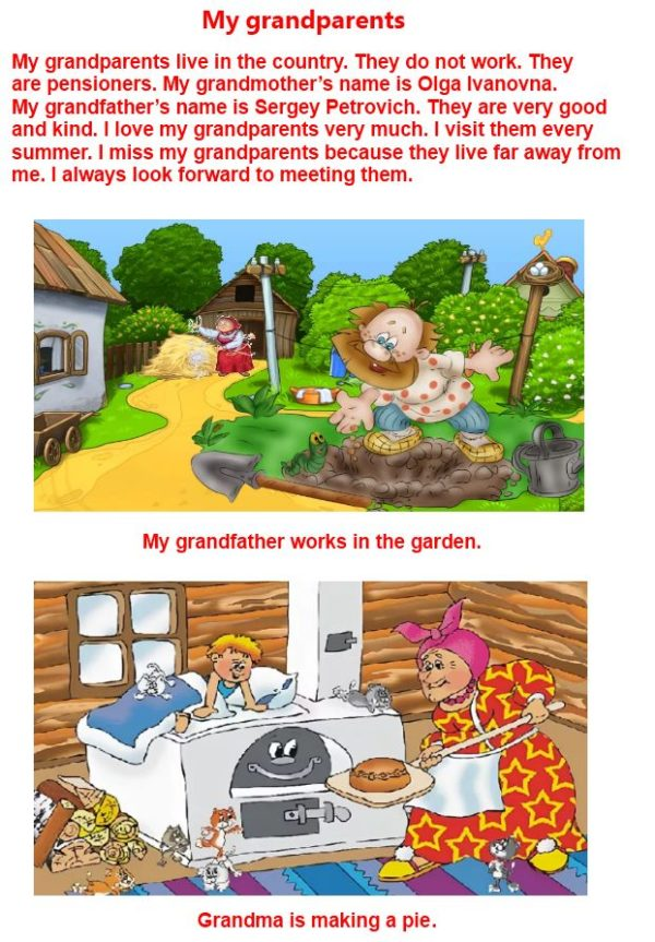 PROJECT WORK 2. Write about your grandparent or great−grandparent